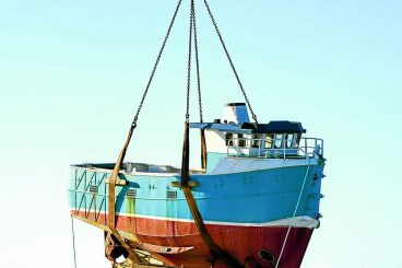 Annan boat lifted into new Irish life