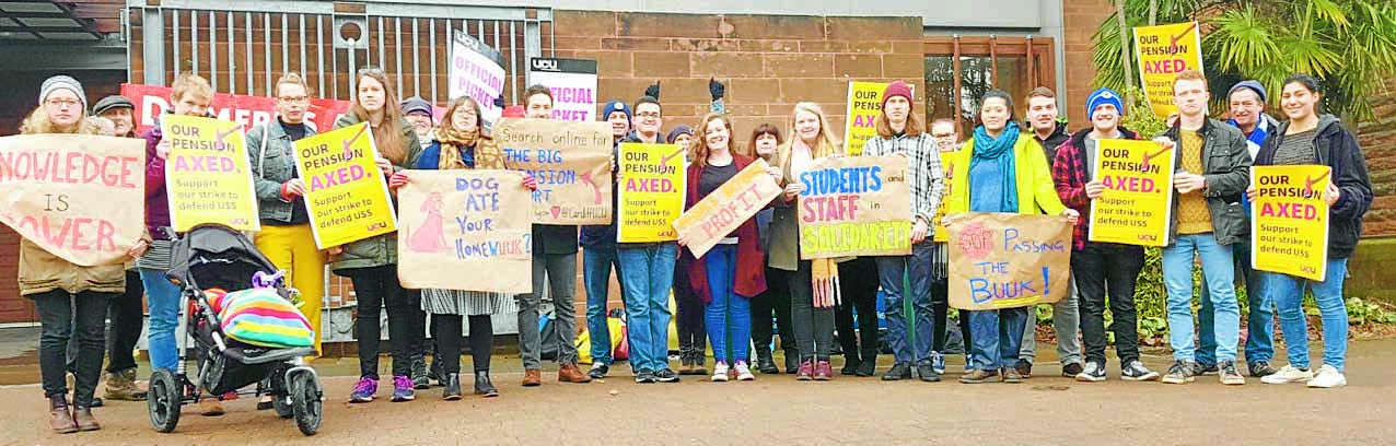 Students rally to support staff
