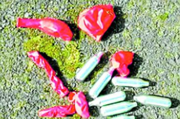 'Laughing Gas' warning after park find