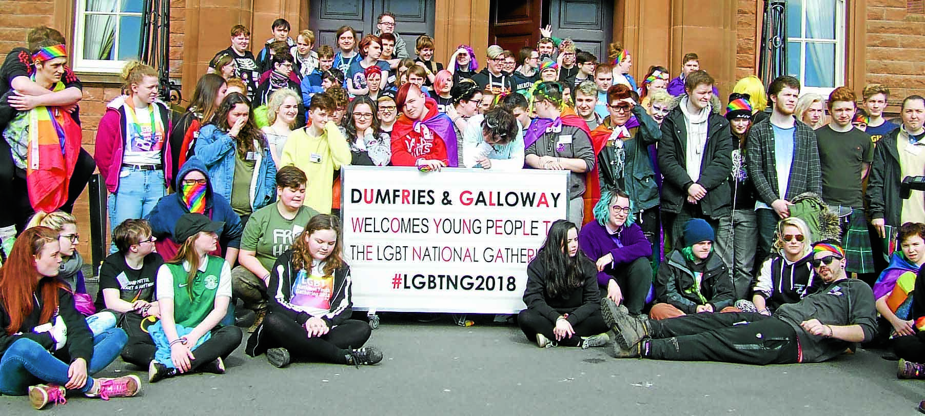 Dumfries flies the flag for LGBT issues