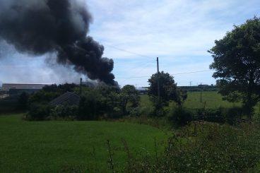 BREAKING: Farm fire