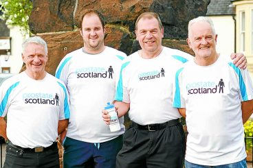 Friends are kilted up for charity walk