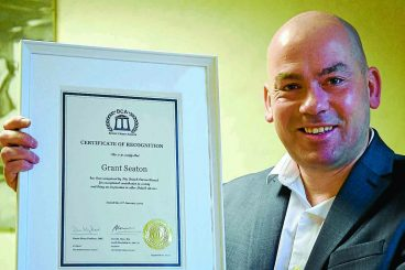 Big hearted Grant's charity efforts recognised