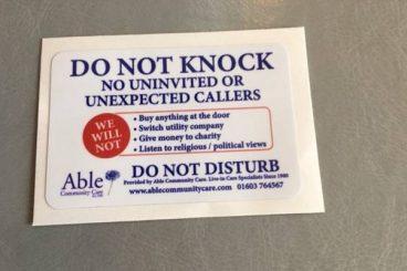 Free door stickers