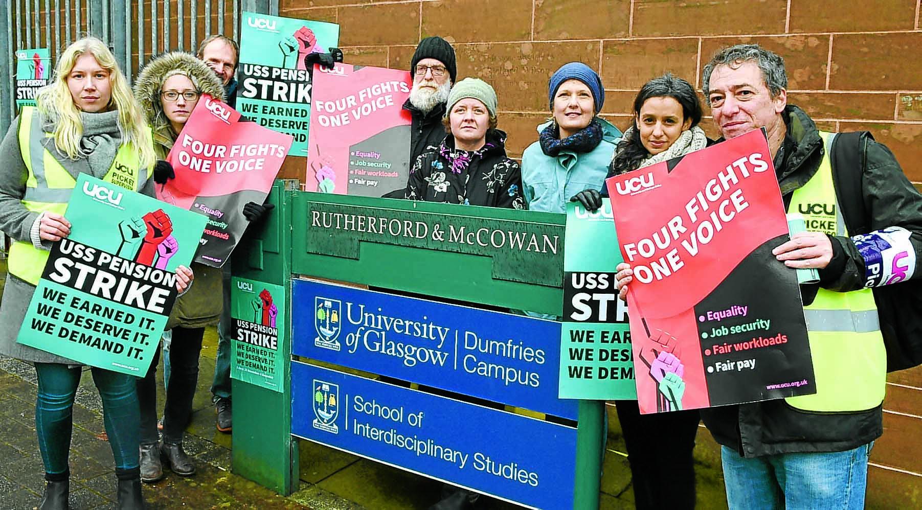 Strike action at uni campus