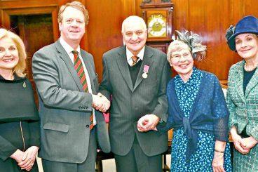Medal magic for poet Peter