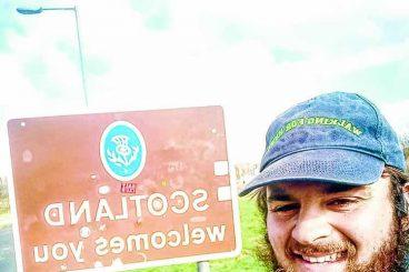Town welcomes coastal walker Barney