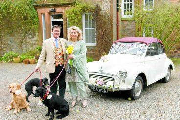 Couple enjoy scaled back wedding