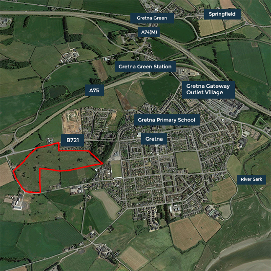Plans for new Gretna homes submitted
