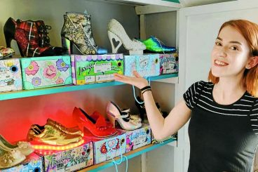Charlotte walks tall in favourite shoes