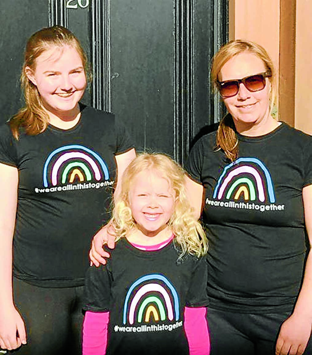 Jemma spreads rainbow cheer with fundraising t-shirts