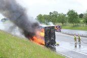 Lorry fire on motorway