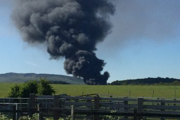 Huge fire breaks out at Solway recycling centre