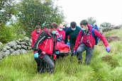 Criffel hill rescue for injured walker