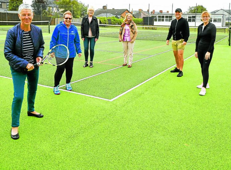 New look tennis courts are 'ace'