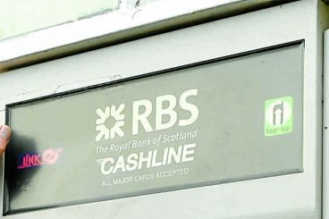 Uncertain future for burgh's only cash machine