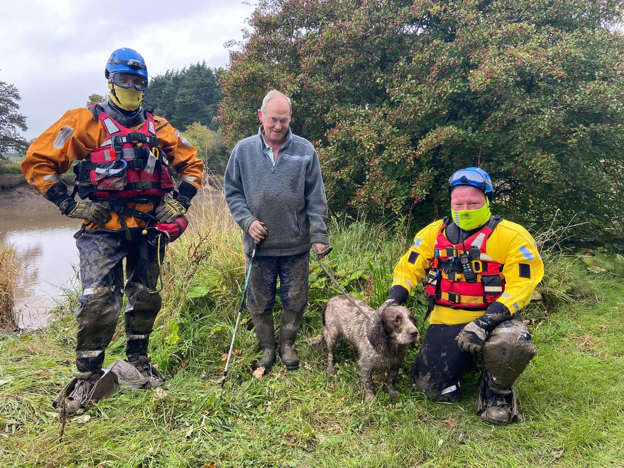 Coastguard to the rescue of stuck dog