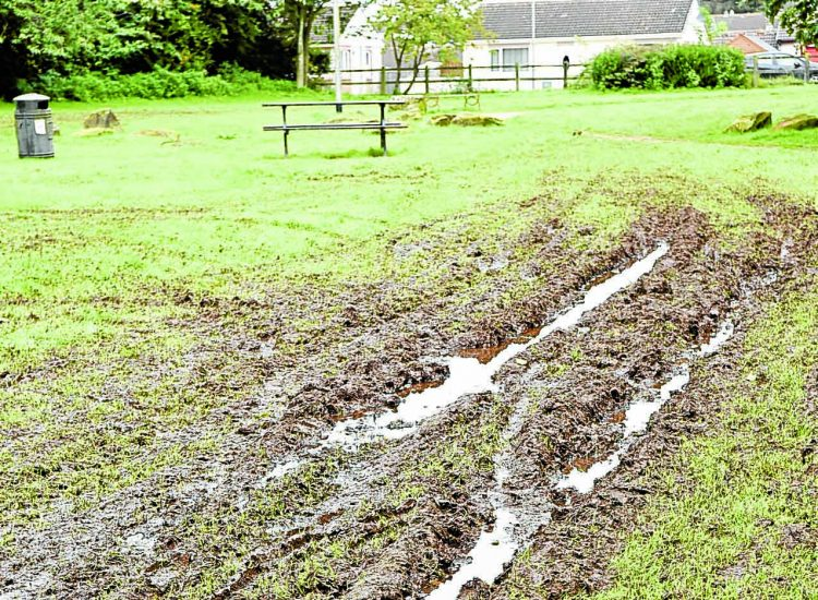 Anger as vandals wreck border park