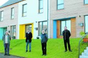 Families move in to eco homes