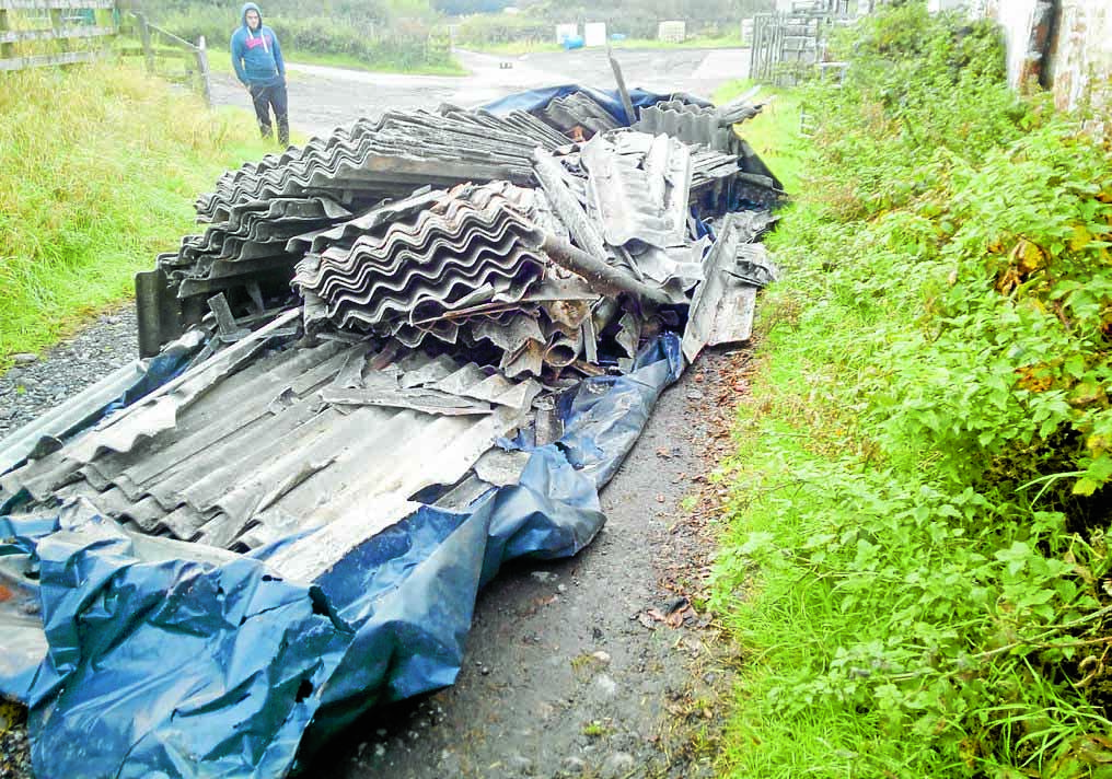 Asbestos dumped on farm