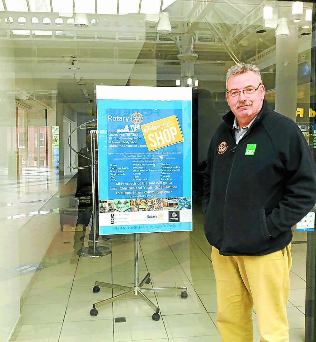 Club to run charity pop up for one week only