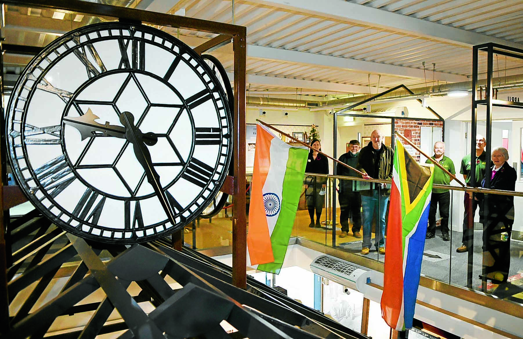 Clock given pride of place at museum
