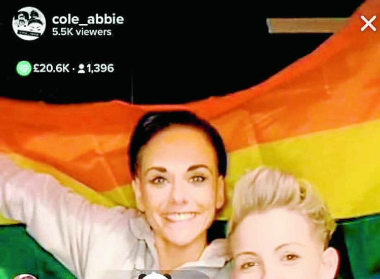 Couple fly the fundraising flag for LGBT cause
