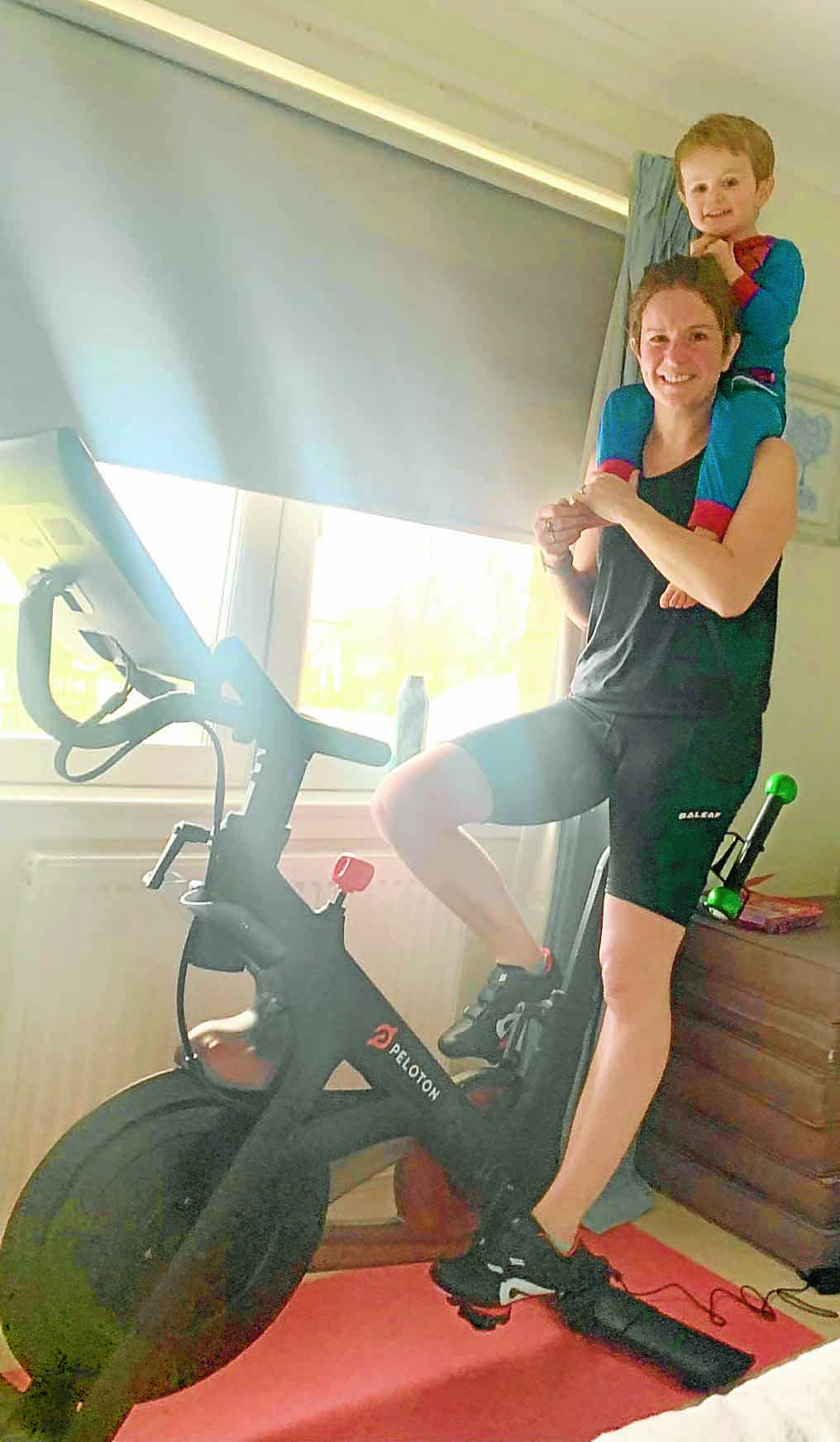 Pedal power for fundraising mum