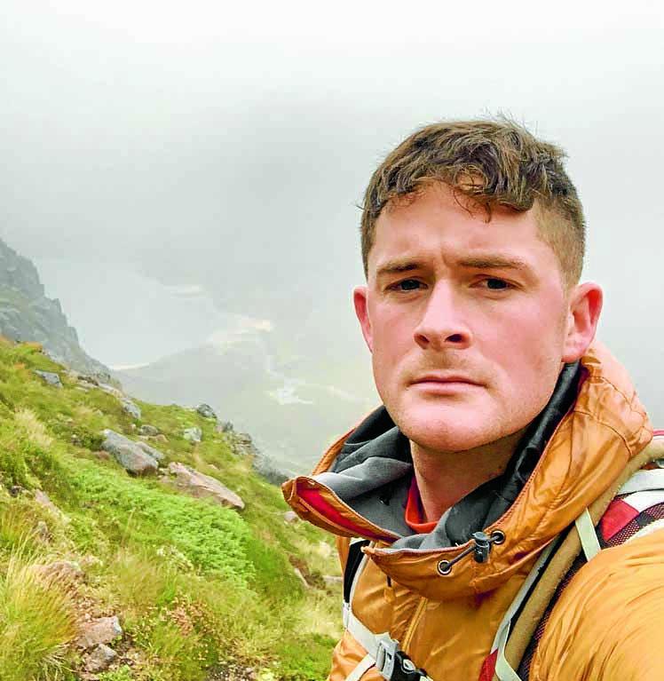 Mountain challenge for Marine Chris