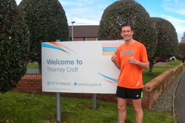 Road runner goes the extra mile for care home