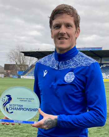 Player of the month award for 'Oor Wullie'