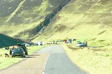 Visitors moved on from Mennock Pass
