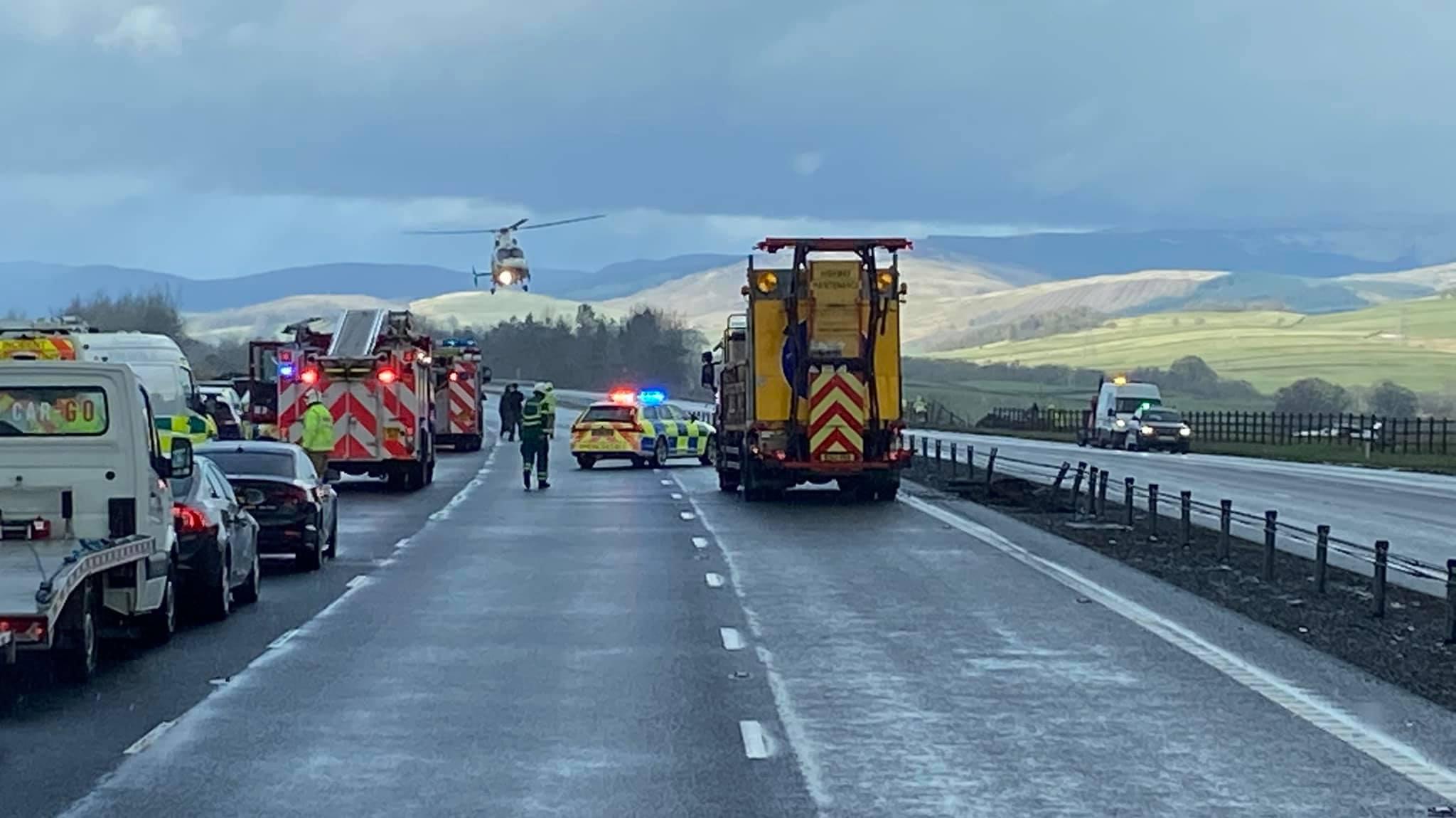 Nine hurt in motorway collisions