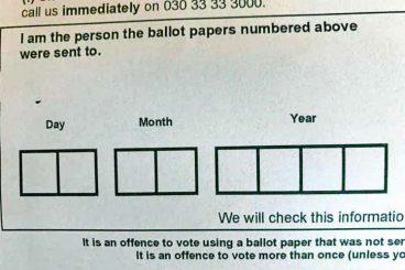 Ballot paper misprint