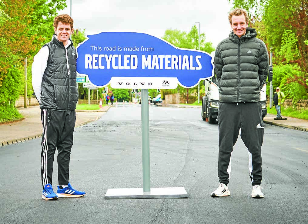 Recycled road gets the Olympic seal of approval