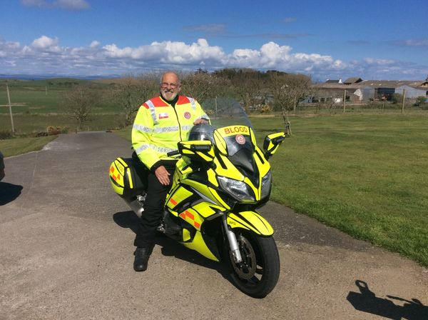 Blood bike dedicated to volunteer Alan