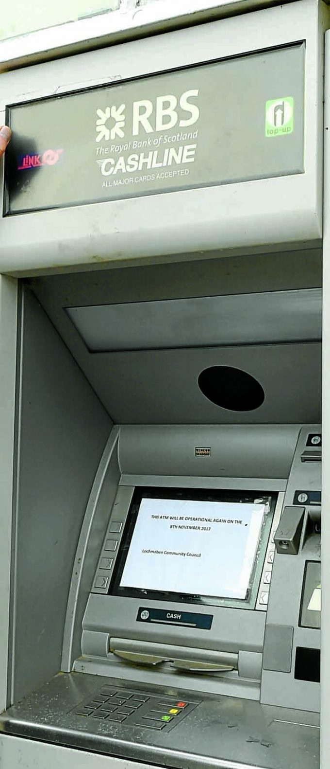 Apologies for covid cash machine failings