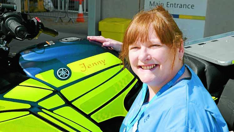 Blood bike named after award winning nurse