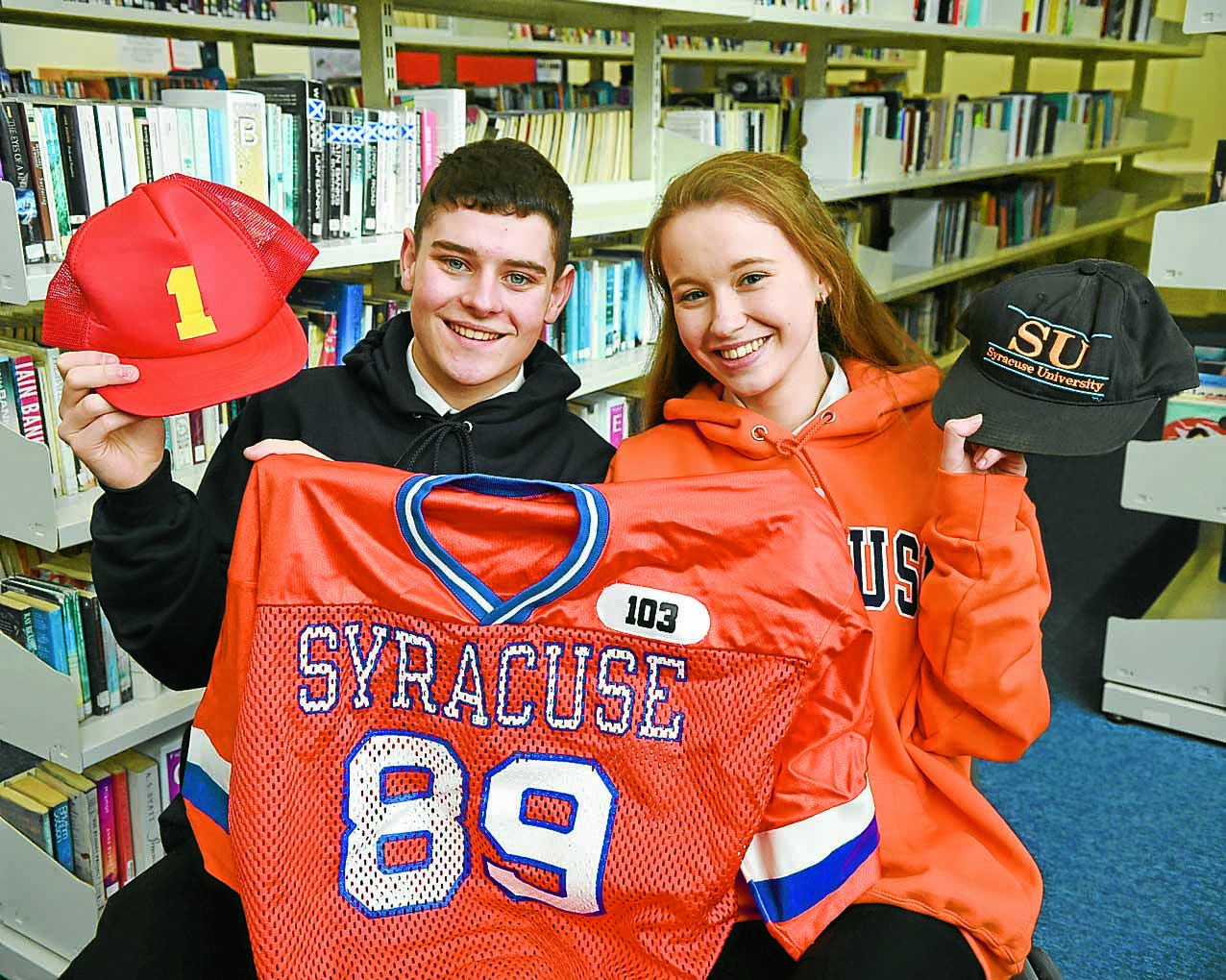 Scholarship duo end unforgettable year