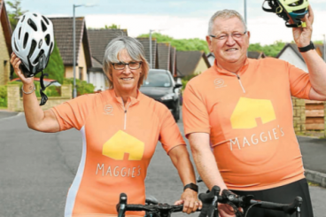 Cancer cycle chalks up £1500