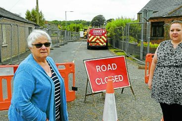 Failing rural road finally gets fixed