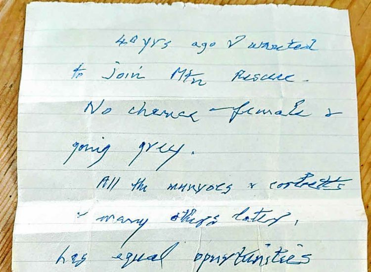 Anonymous note to rescue crew sparks appeal
