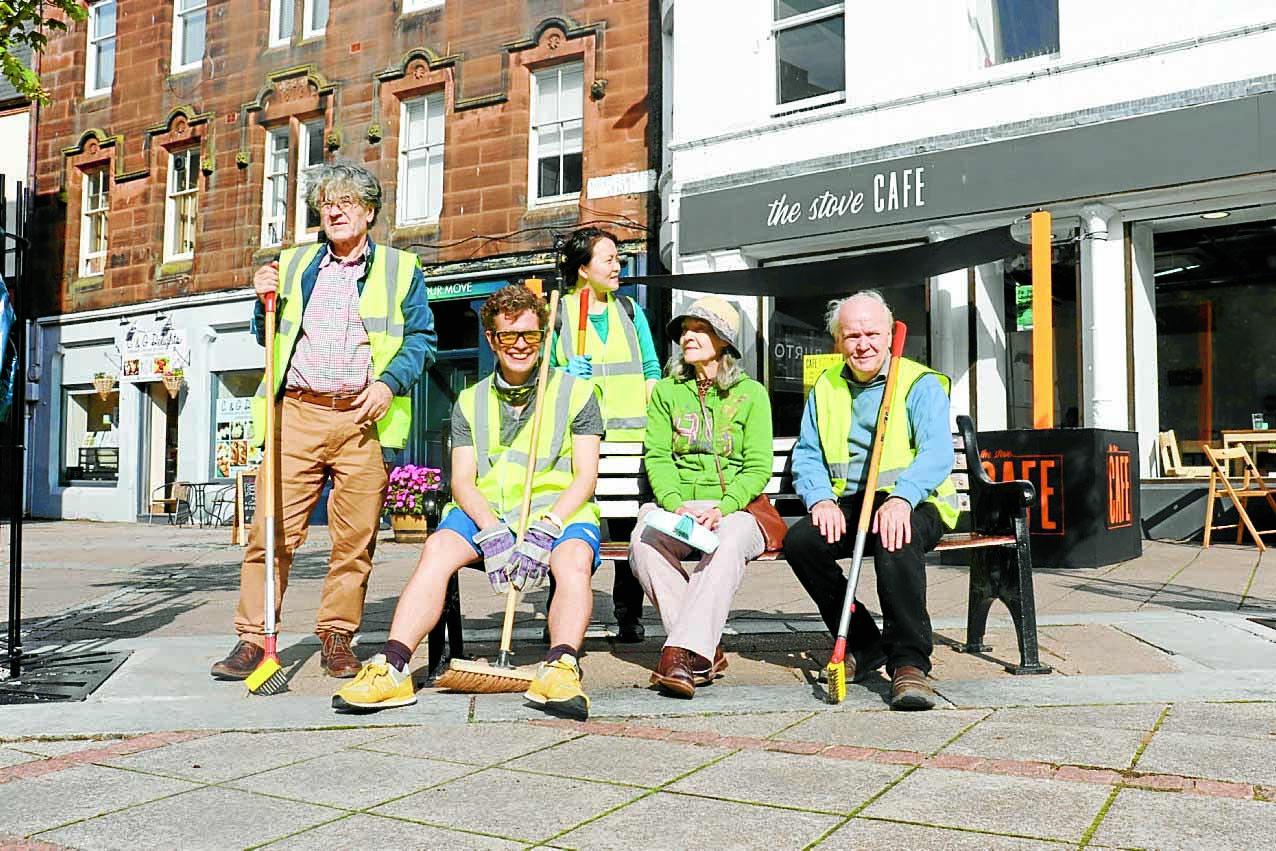 High Street clean team get to work