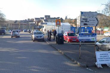 Town centre's car park chaos