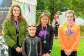 Quintet triumph at wild swim weekend